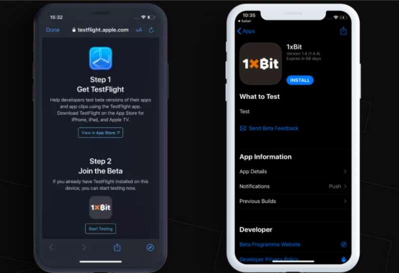 วิธีการติดตั้งแบบ 1xBit iOS คนที่ใช้มือถือแอปเปิ้ลมาทางนี้